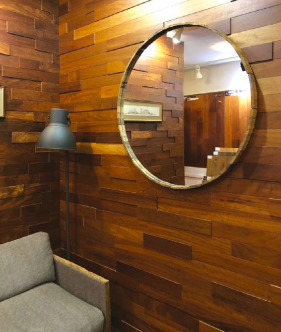 Wall panel Iroko